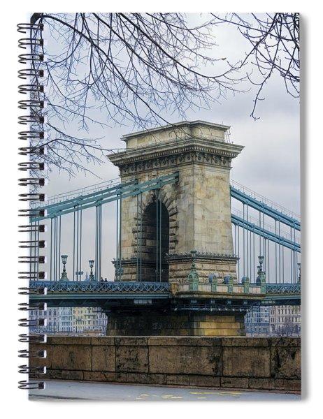 Chain Bridge Pier Spiral Notebook