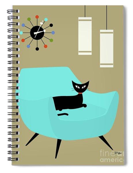 Chair With Ball Clock Spiral Notebook