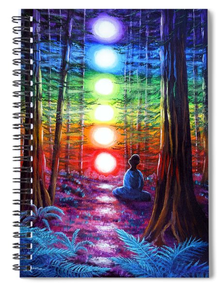 Chakra Meditation In The Redwoods Spiral Notebook