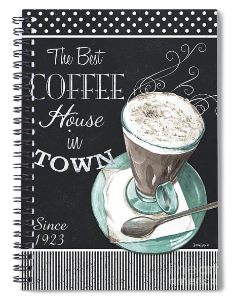 Chalkboard Retro Coffee Shop 2 Spiral Notebook