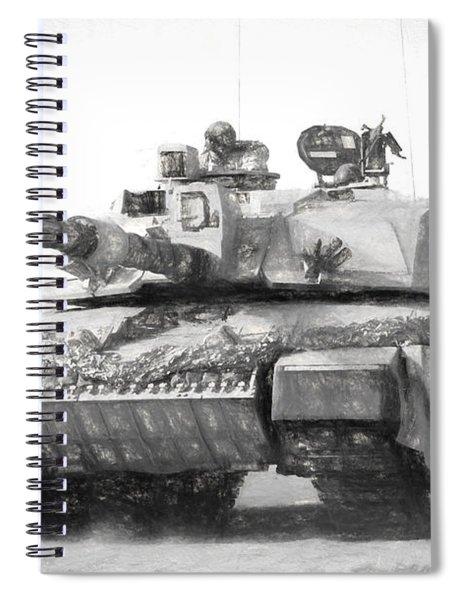 Challenger Tank Drawing Spiral Notebook