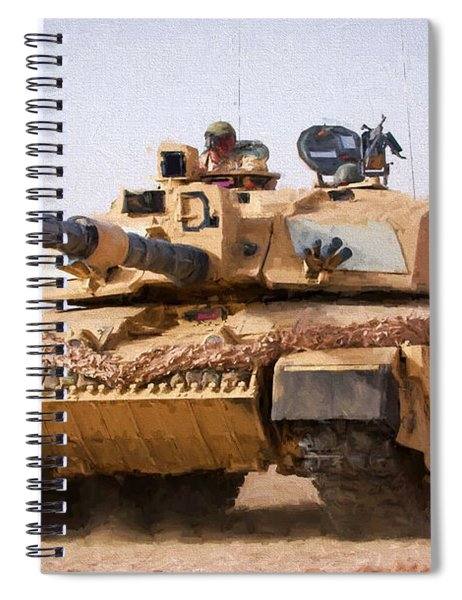 Challenger Tank Painting Spiral Notebook