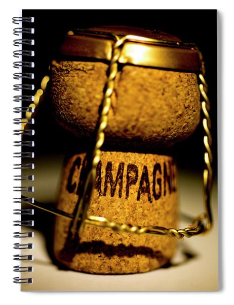 Champagne Cork Spiral Notebook
