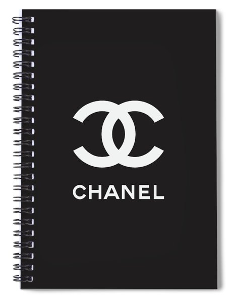 Chanel - Black And White 03 - Lifestyle And Fashion Spiral Notebook
