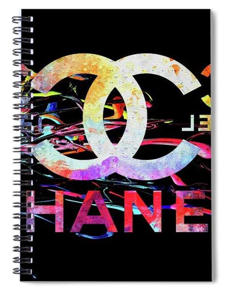 Chanel Black Spiral Notebook