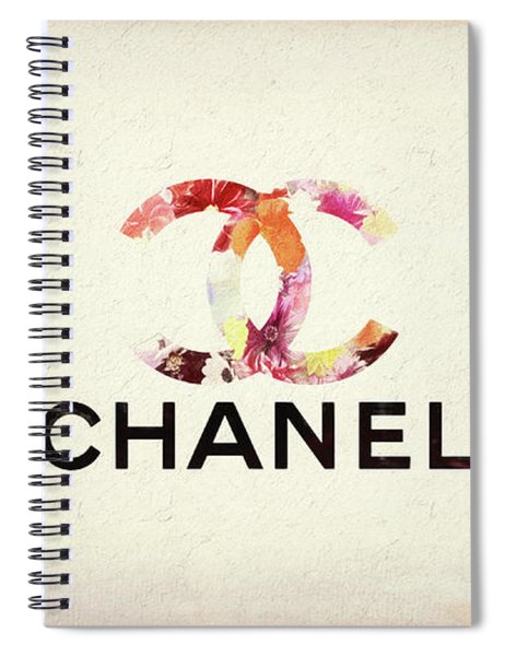 Chanel Floral Texture  Spiral Notebook