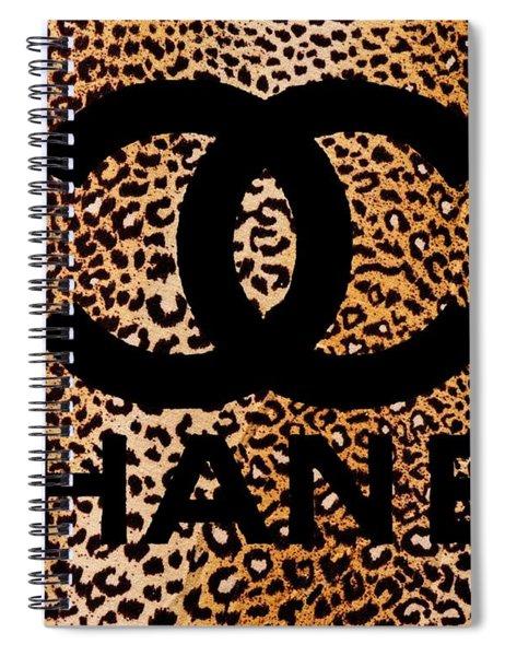 Chanel Leopard 5 Spiral Notebook