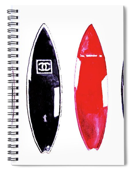 Chanel Surfboards Print Chanel Surfboards Poster Chanel Surfboards Decor Spiral Notebook