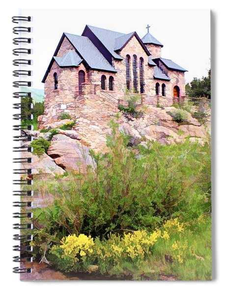 Chapel On A Hill - Allenspark, Colorado Spiral Notebook