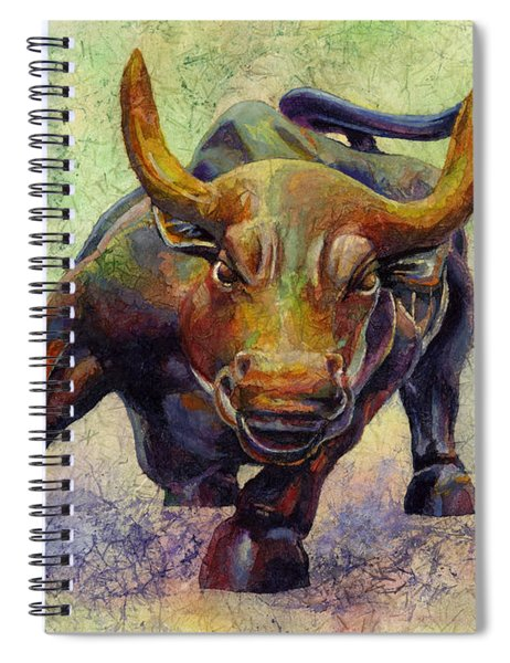 Charging Bull Spiral Notebook