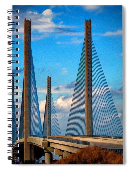 Charles W Cullen Bridge South Approach Spiral Notebook