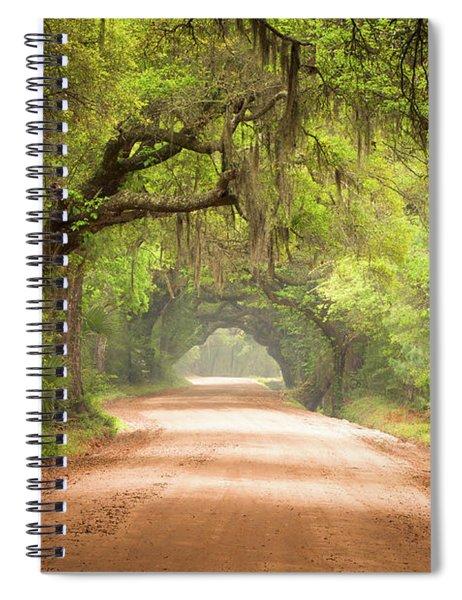 Charleston Sc Edisto Island Dirt Road - The Deep South Spiral Notebook