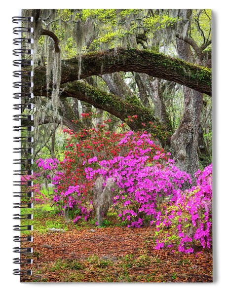 Charleston South Carolina Spring Flowers Lowcountry Landscape Photography Spiral Notebook