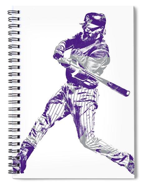 Charlie Blackmon Colorado Rockies Pixel Art 11 Spiral Notebook
