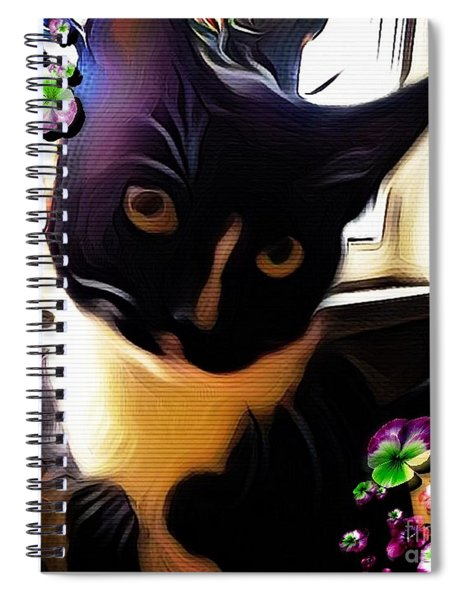 Charmed By My Beloved Cat Spiral Notebook