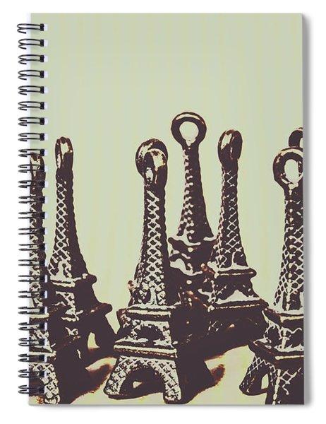 Charming Europe Landmarks Spiral Notebook