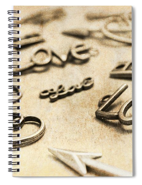 Charming Old Fashion Love Spiral Notebook