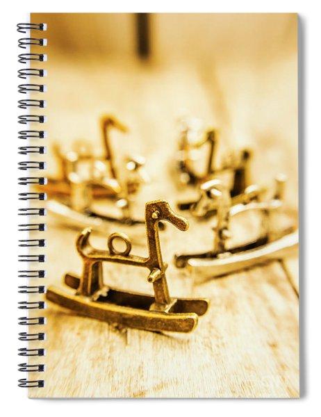 Charming Rocking Horse Pendants Spiral Notebook