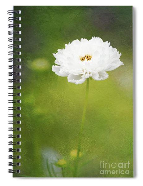 Charming White Cosmos Spiral Notebook