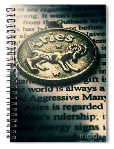 Charting In Aries Spiral Notebook