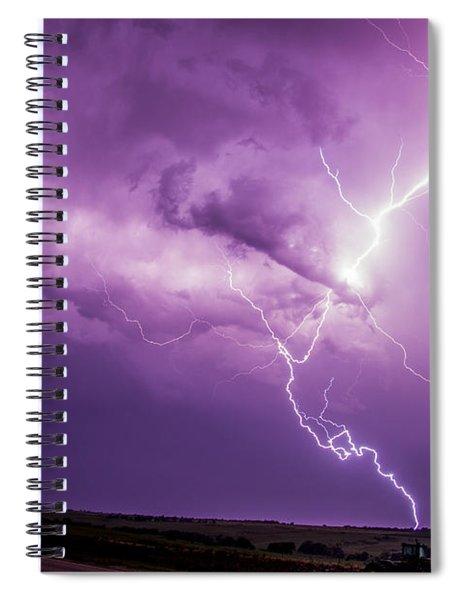 Chasing Nebraska Lightning 018 Spiral Notebook