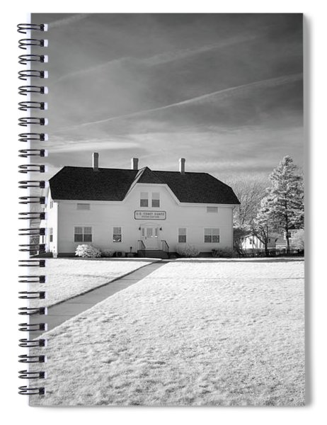 Chatham Light Black And White Spiral Notebook