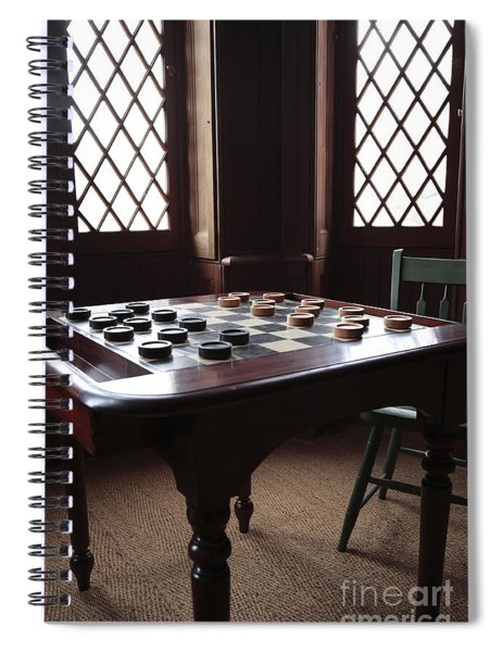 Checkers Table At The Lincoln Cottage In Washington Dc Spiral Notebook