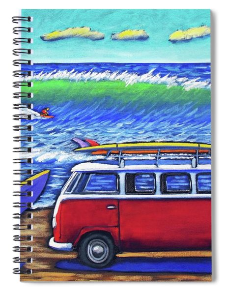 Checking Out The Waves Spiral Notebook
