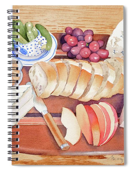 Cheese Plate For A Party Spiral Notebook