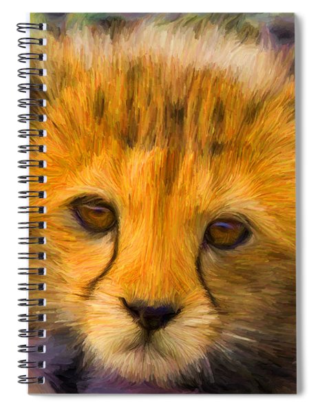 Cheetah Cub Spiral Notebook