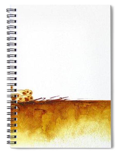 Cheetah Mum And Cubs - Original Artwork Spiral Notebook
