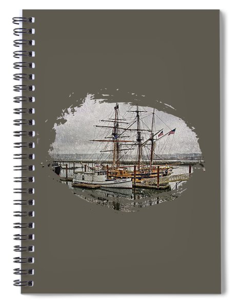 Chelsea Rose And Tall Ships Spiral Notebook