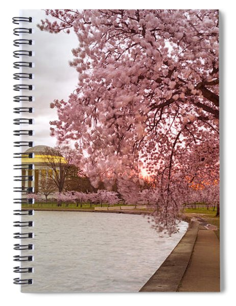 Cherry Blossom At Tidal Basin, Dc Spiral Notebook