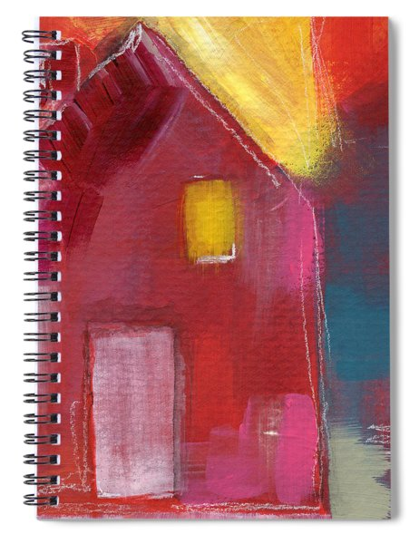 Cherry Blossom House- Art By Linda Woods Spiral Notebook