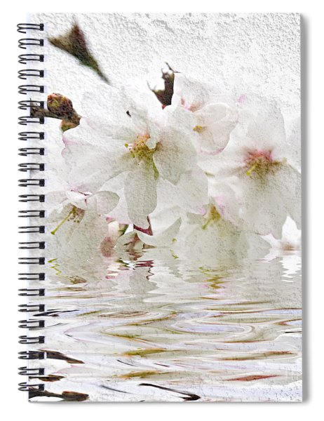 Cherry Blossom In Water Spiral Notebook