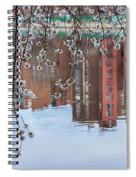 Cherry Blossom Reflections Spiral Notebook