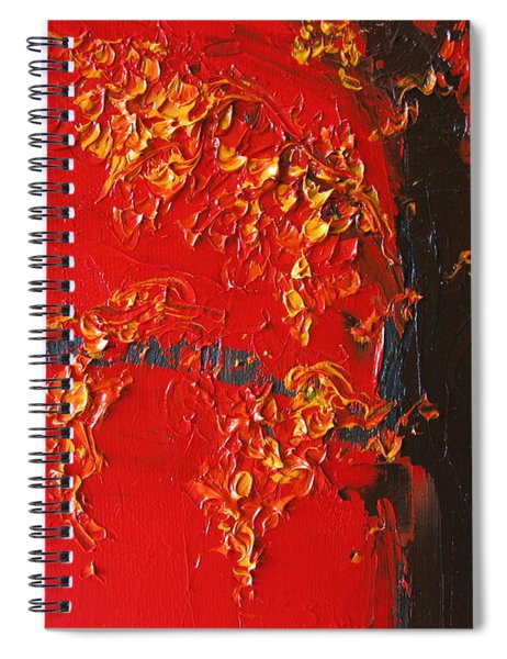 Cherry Blossom Tree - Red Yellow Spiral Notebook