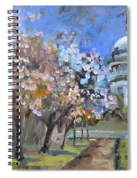 Cherry Tree Blossoms In Washington Dc Spiral Notebook