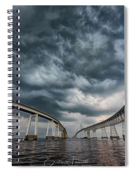 Chesapeake Bay Bridge Storm Spiral Notebook