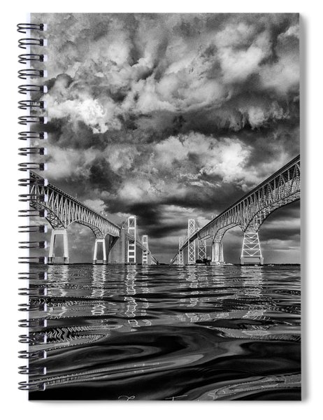 Chesapeake Bay Bw Spiral Notebook