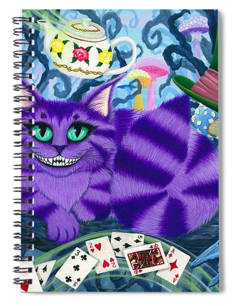 Cheshire Cat - Alice In Wonderland Spiral Notebook