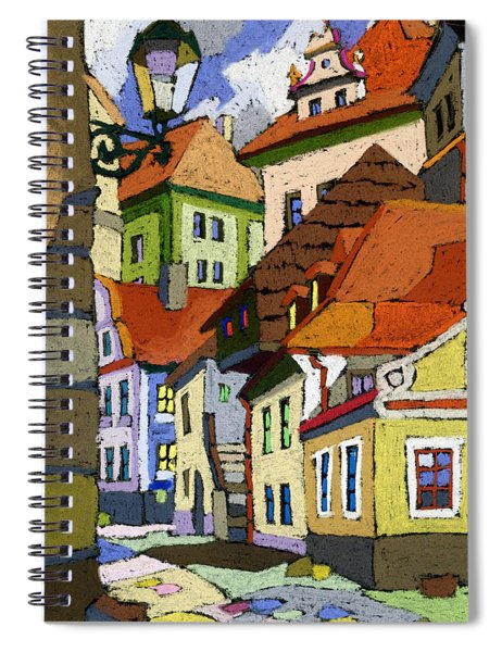 Chesky Krumlov Masna Street 1 Spiral Notebook