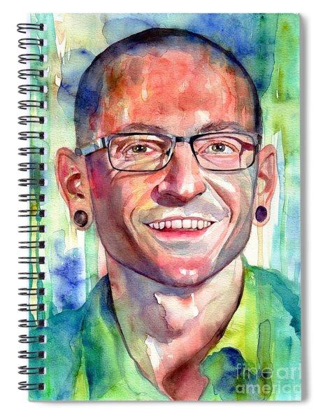 Chester Bennington Portrait Spiral Notebook