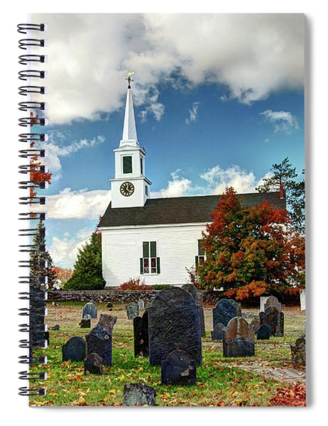 Chester Village Cemetery In Autumn Spiral Notebook