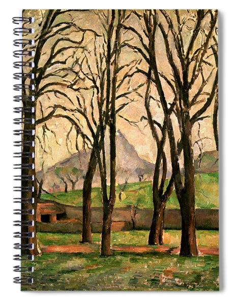 Chestnut Trees At The Jas De Bouffan Spiral Notebook