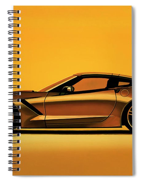Chevrolet Corvette Stingray 2013 Painting Spiral Notebook