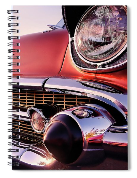 Chevy Bel Air Grille And Bumper Detail Spiral Notebook