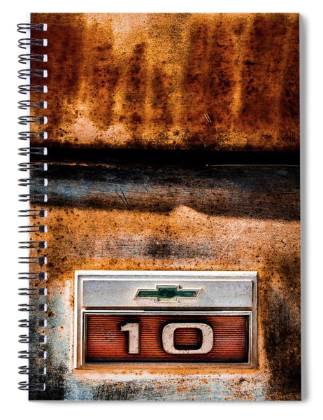 Chevy C10 Rusted Emblem Spiral Notebook