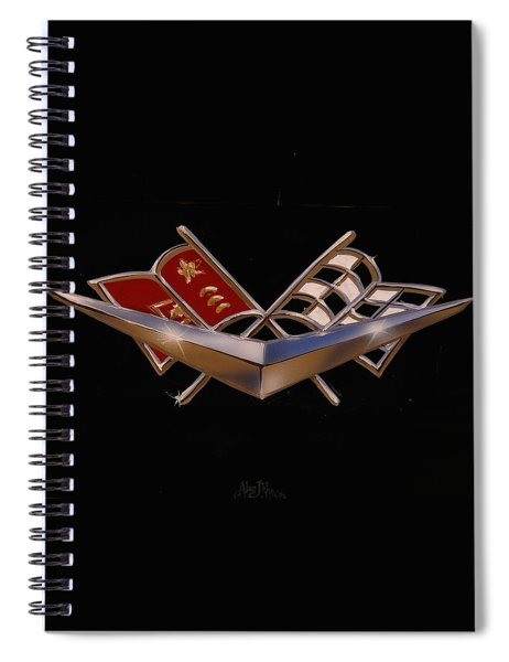 Chevy Flags  Spiral Notebook