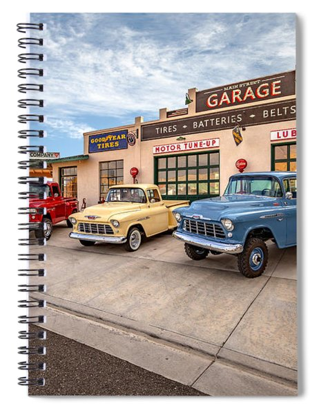 Chevys At The Main Street Garage - With Signature  Spiral Notebook